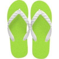 beach sandal lime green sole