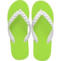 beach sandal lime green sole
