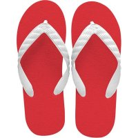 beach sandal red sole