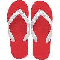 beach sandal red sole