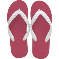 beach sandal burgundy sole