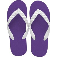 beach sandal purple sole