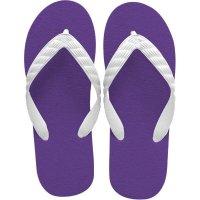 beach sandal purple sole