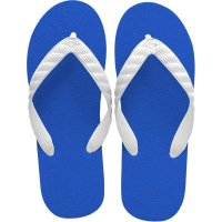 beach sandal royal blue sole