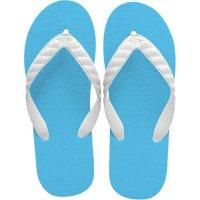 beach sandal aqua blue sole
