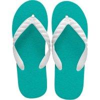 beach sandal green sole