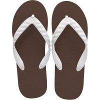 beach sandal brown sole