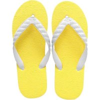 beach sandal yellow sole