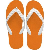 beach sandal orange sole