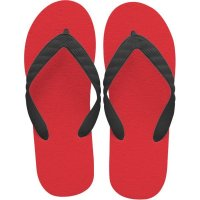 beach sandal black thong