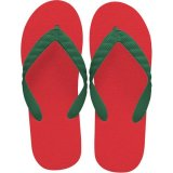 beach sandal green thong
