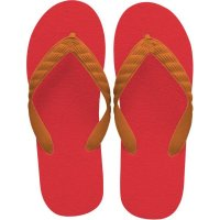 beach sandal orange thong