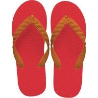 beach sandal orange thong
