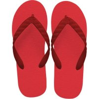 beach sandal red thong